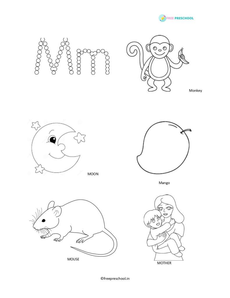 Alphabet M coloring