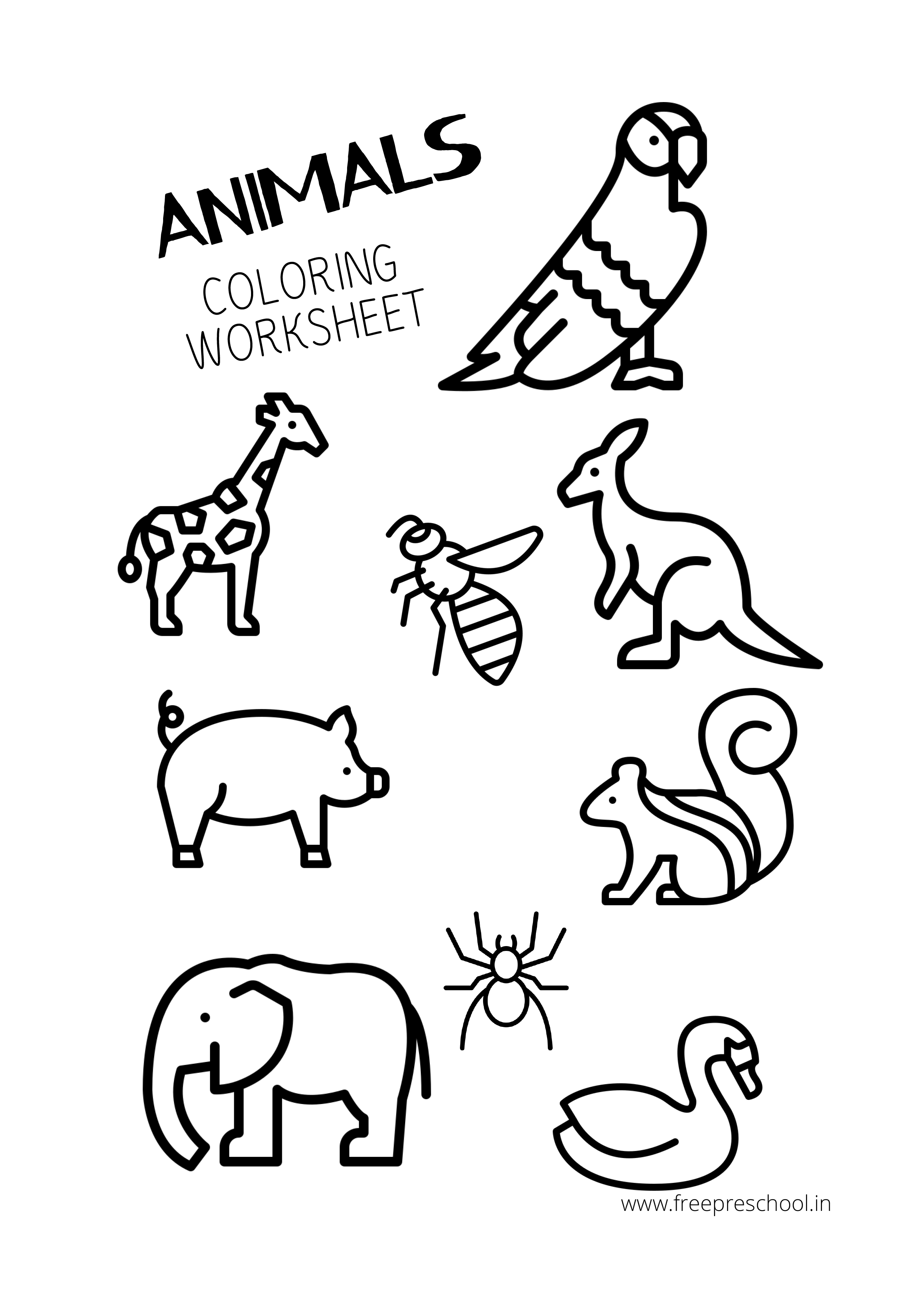 Animal Coloring Pages Free Downloads