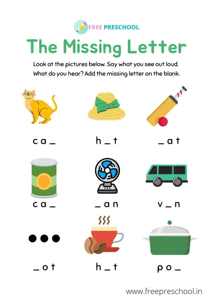 cvc worksheets for kindergarten