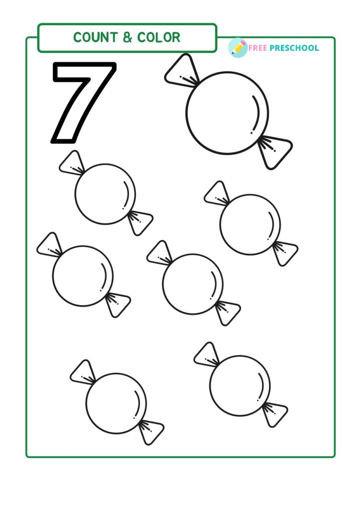 7 Candy Coloring Page