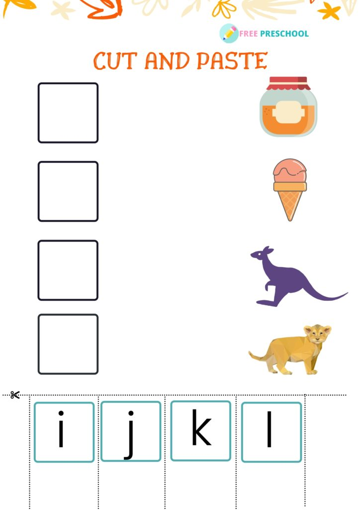 Cut and Paste Worksheet_i to l