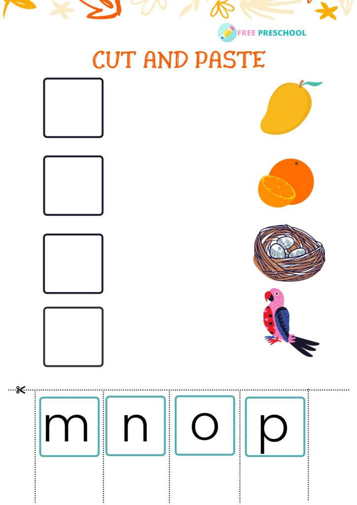 Cut and Paste Worksheet_m to p