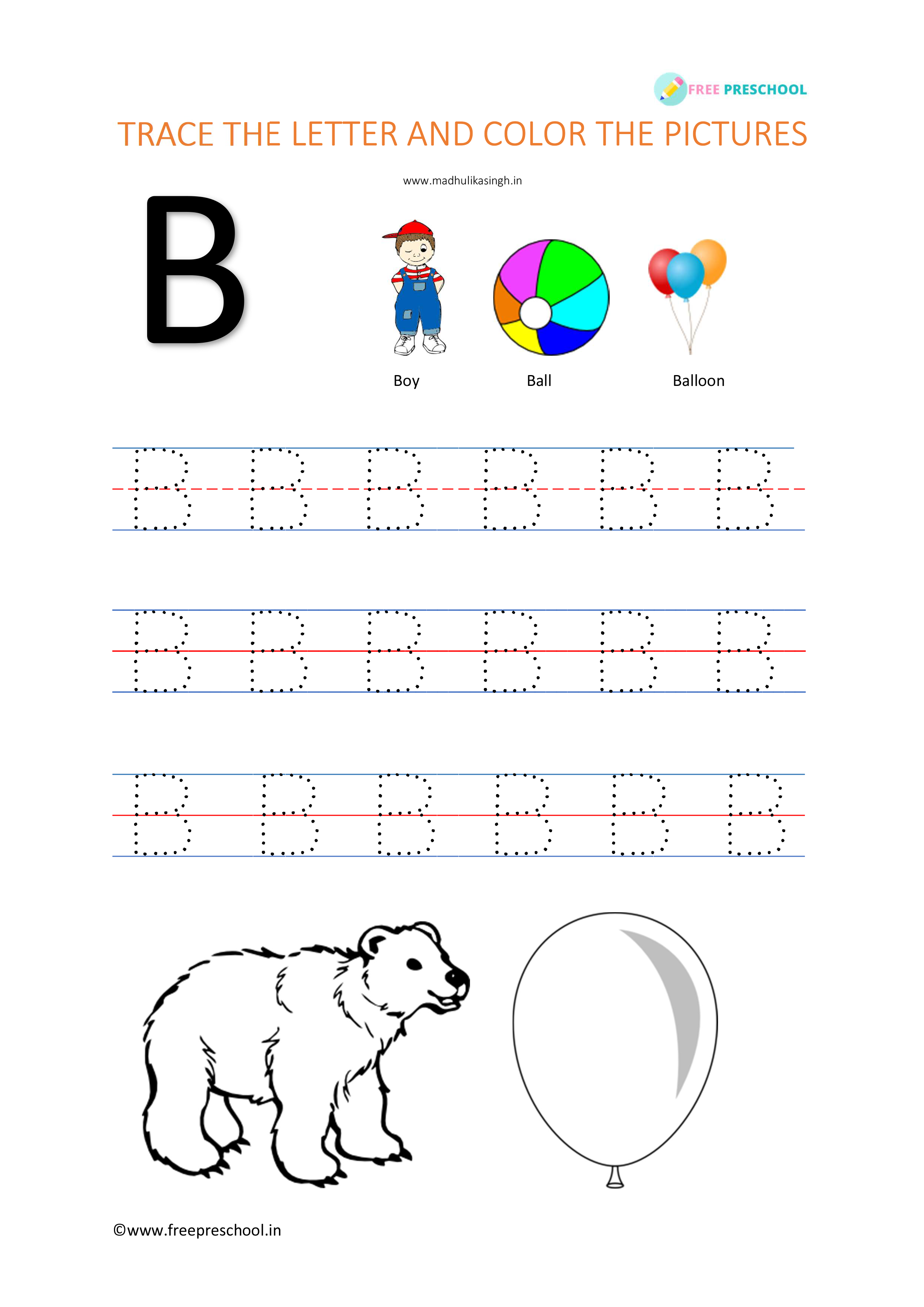 Alphabet Letter Tracing Bb