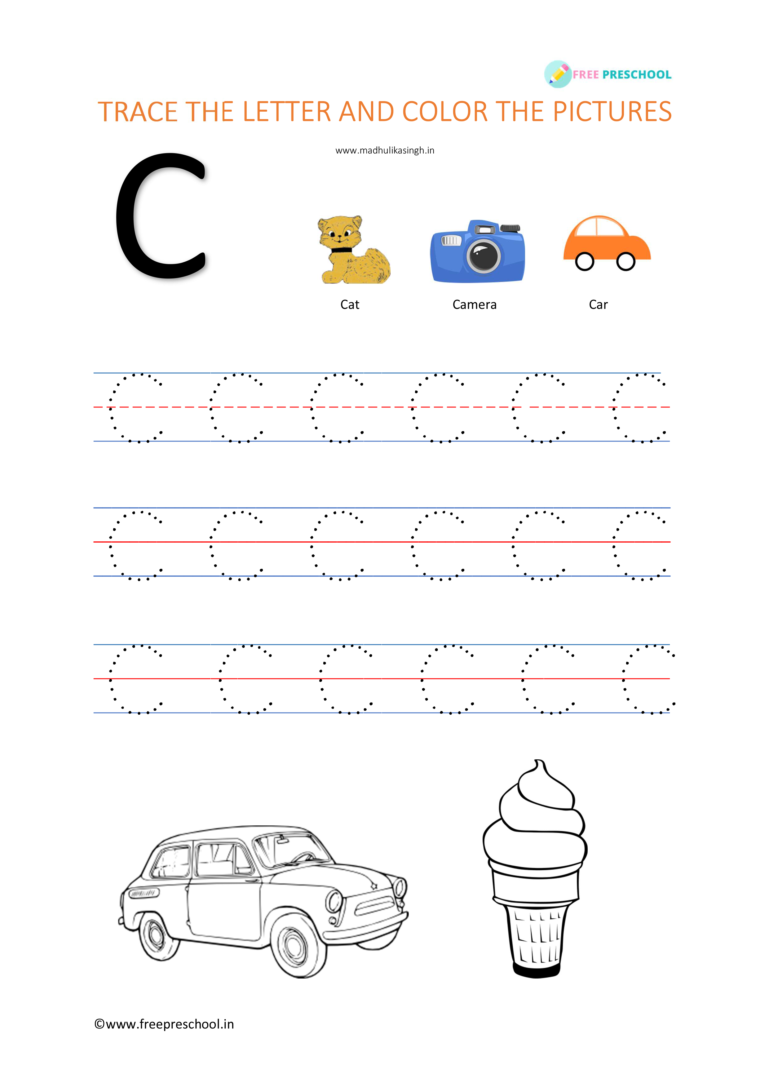 Alphabet Letter Tracing Cc