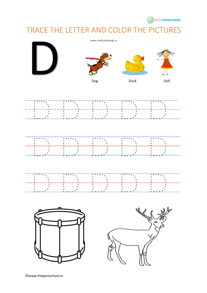 Letter tracing D