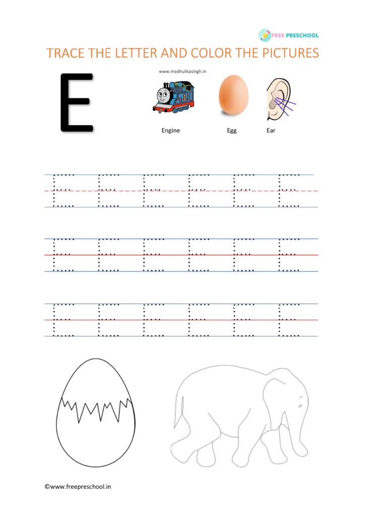 Letter tracing E