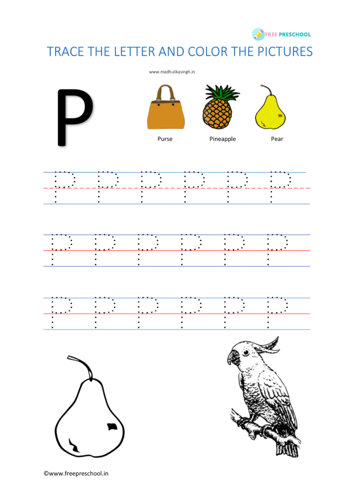 Alphabet Tracing Letter Pp