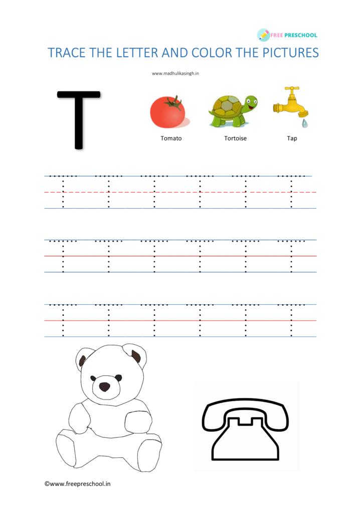 Alphabet Tracing Letter Tt