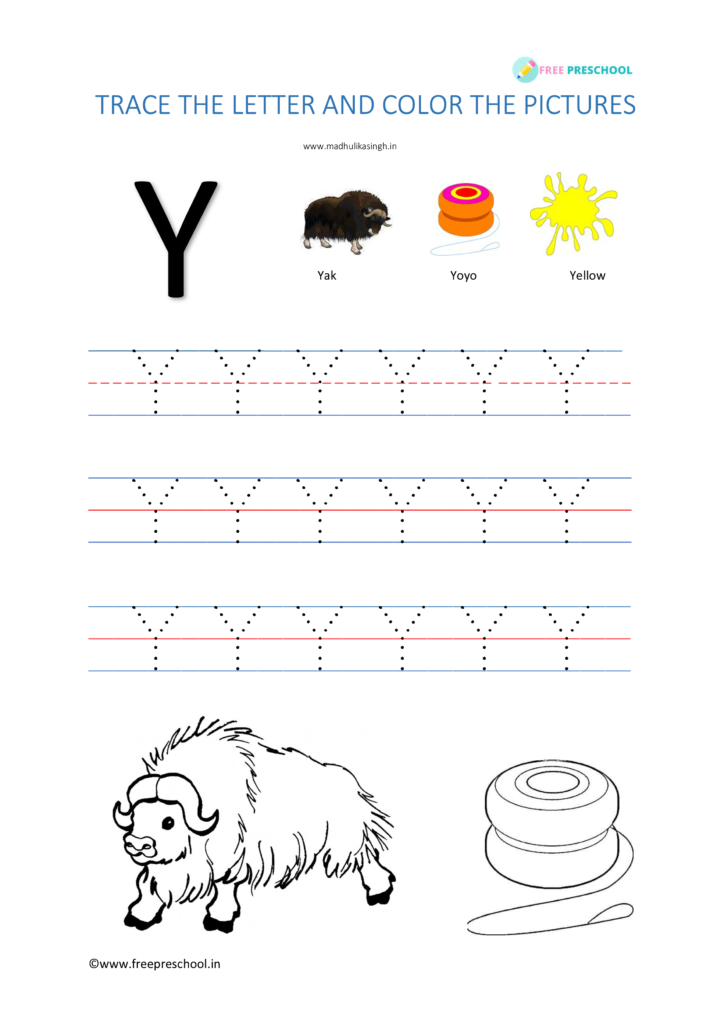Alphabet Tracing Letter Yy