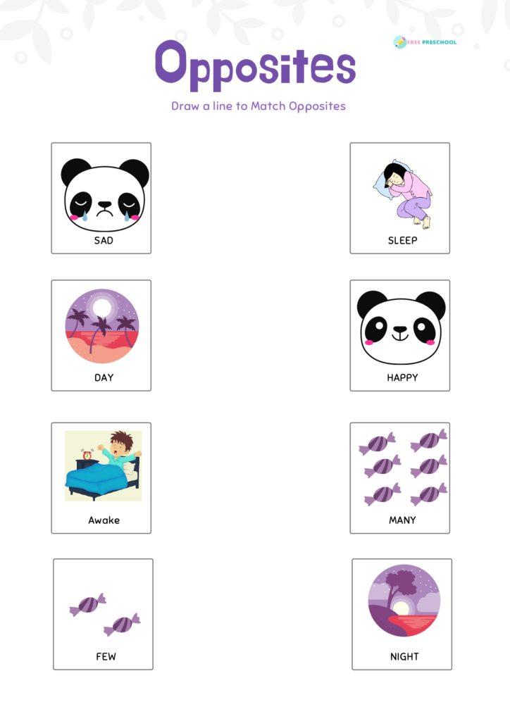 opposites worksheets pdf