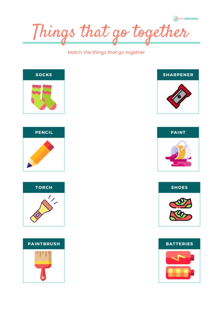 Things that go together Worksheet 3