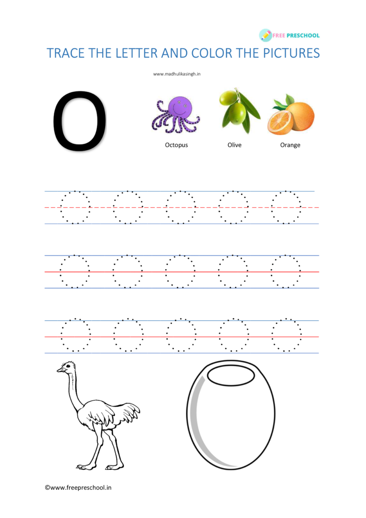 Alphabet Tracing Letter Oo