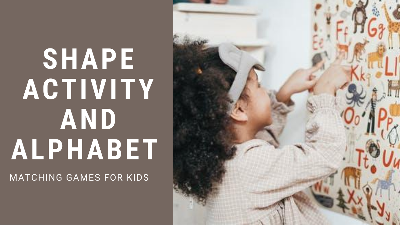 Preschool Shape Activity and Alphabet Matching Games 2020