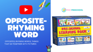 Opposite and Rhyming Words with Pictures 4 Matching Games for Kids