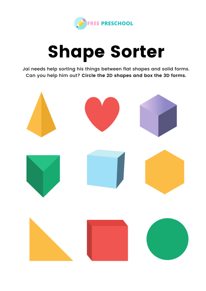 3d shapes worksheets pdf