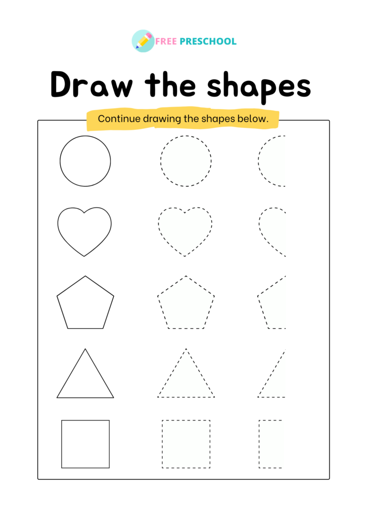 shape activity for kindergarten