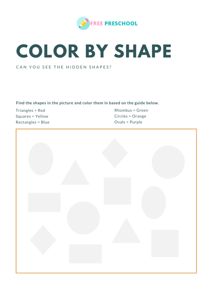 shape worksheets for preschool