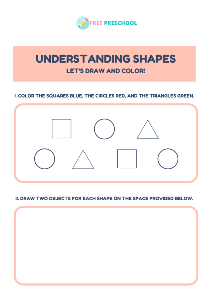 shape worksheets preschool