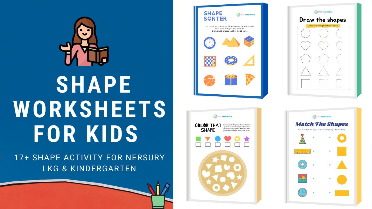 15+ Shape Worksheets & Shape Activity for Kindergarten