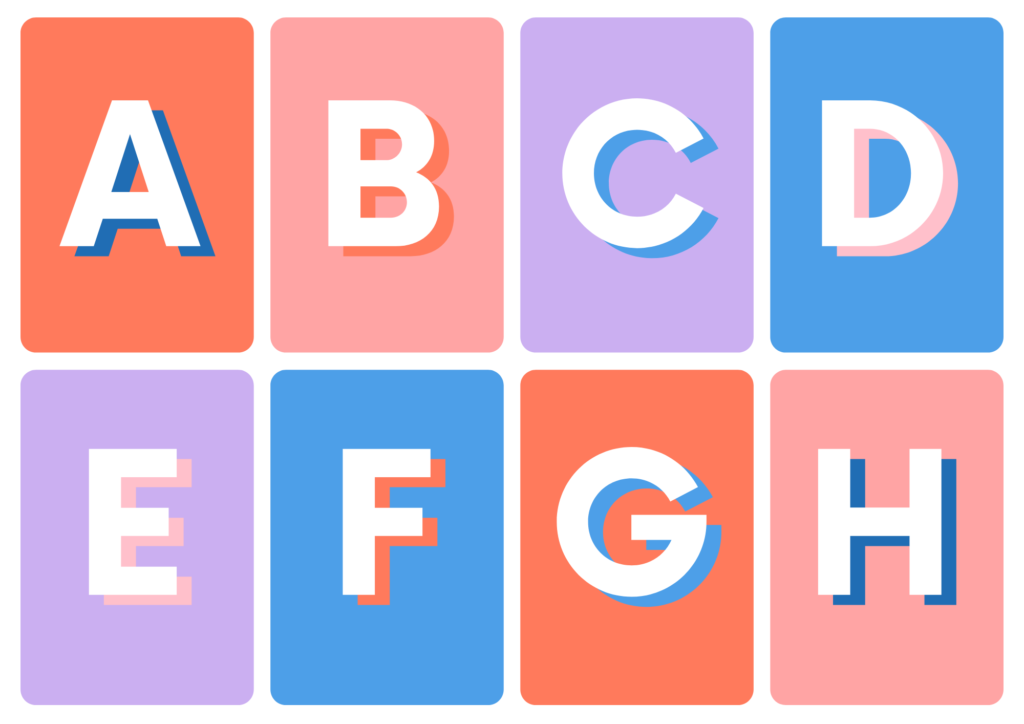 Alphabet Flash Cards Uppercase and Lowercase