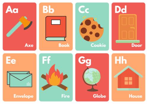 Alphabet Flash Cards for Kids