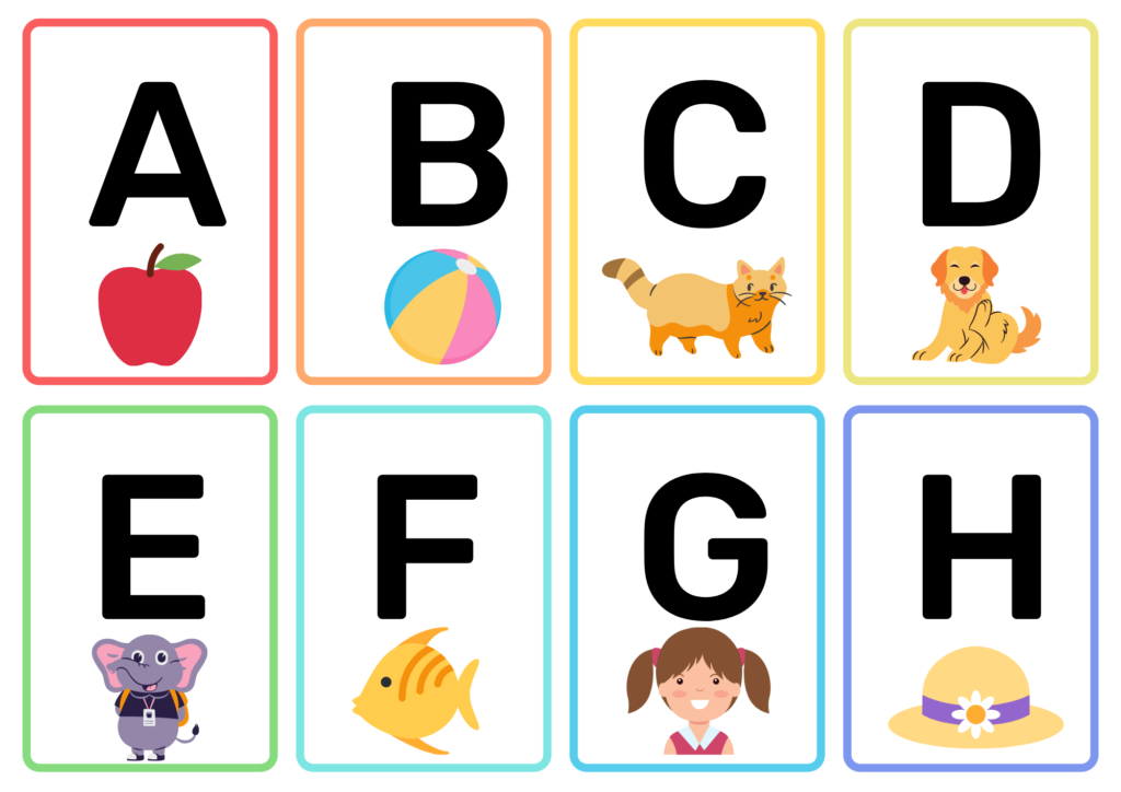 printable letter flash cards
