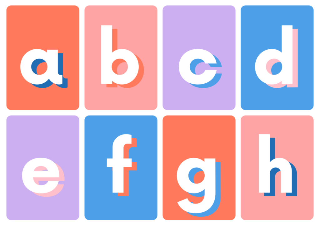 small alphabet flash cards printable