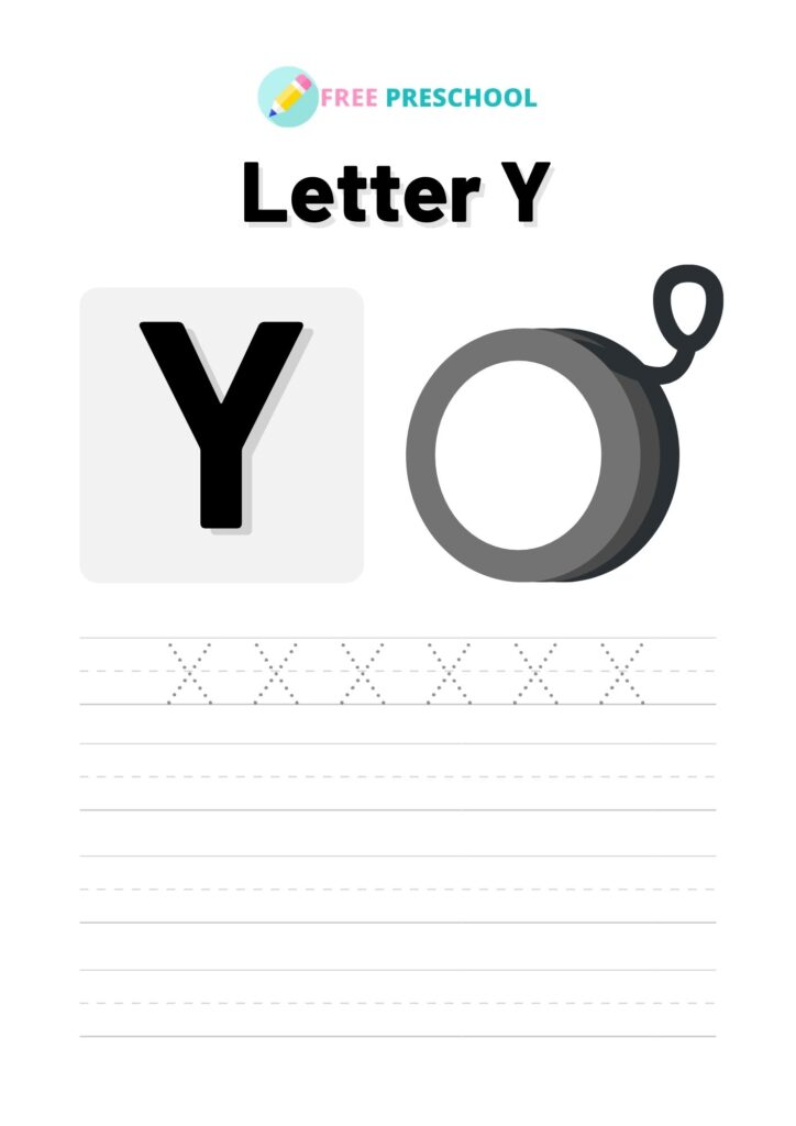 Letter Tracing Y