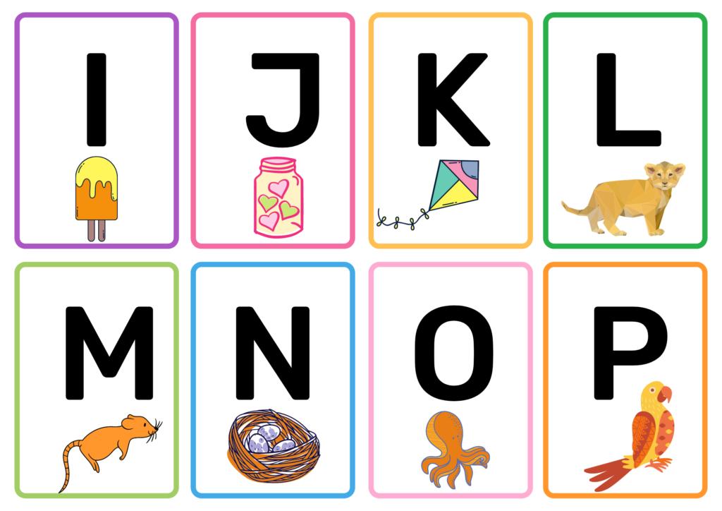 Alphabet Matching Flash Cards