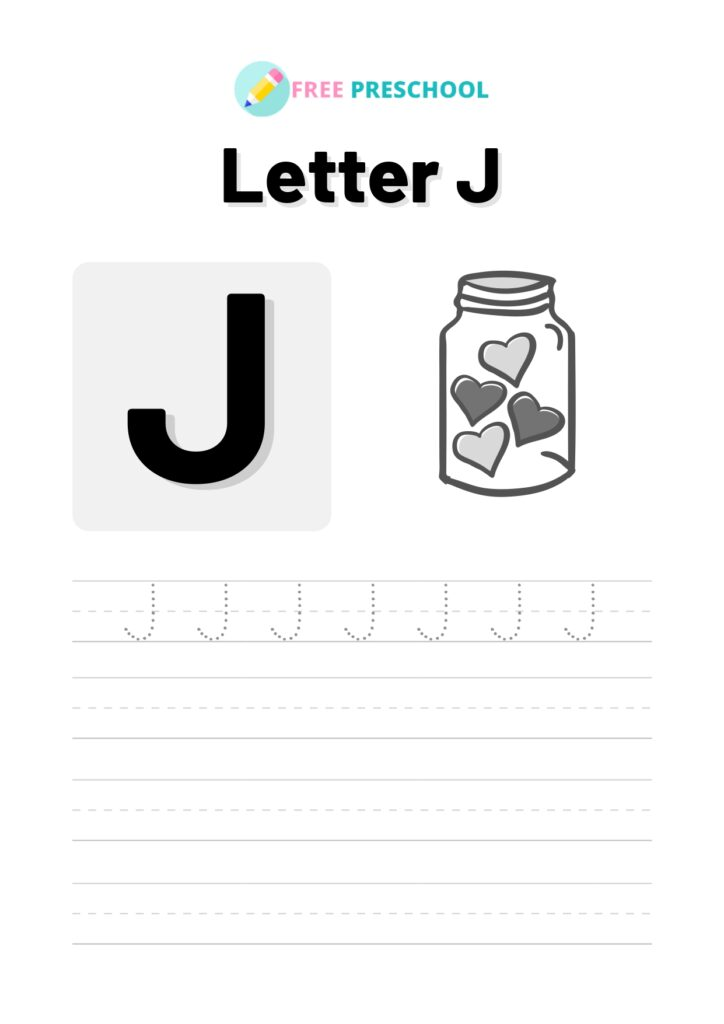 letter tracing J