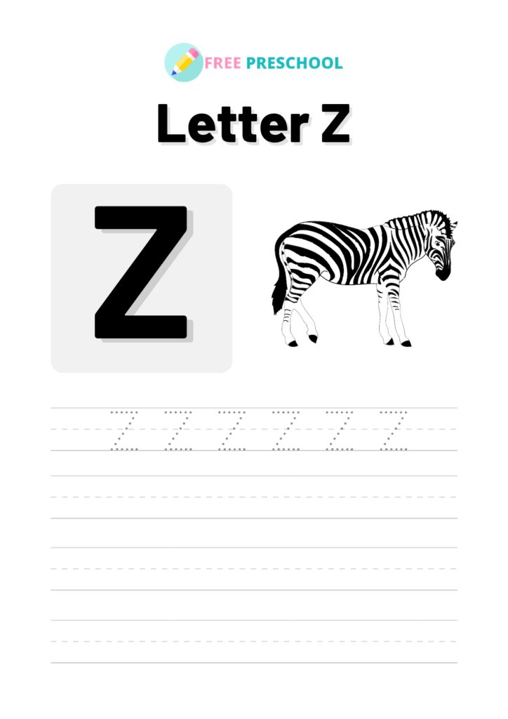 Letter Tracing Z